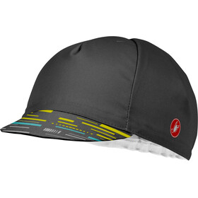 Castelli TR Cycling Cap dark gray/yellow fluo